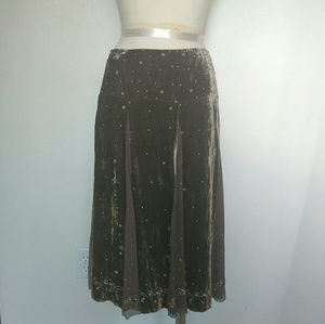 Ellie Tahari velvet beaded skirt Gorgeous